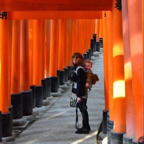clo and Liam at the Fushimi Inari Shrine