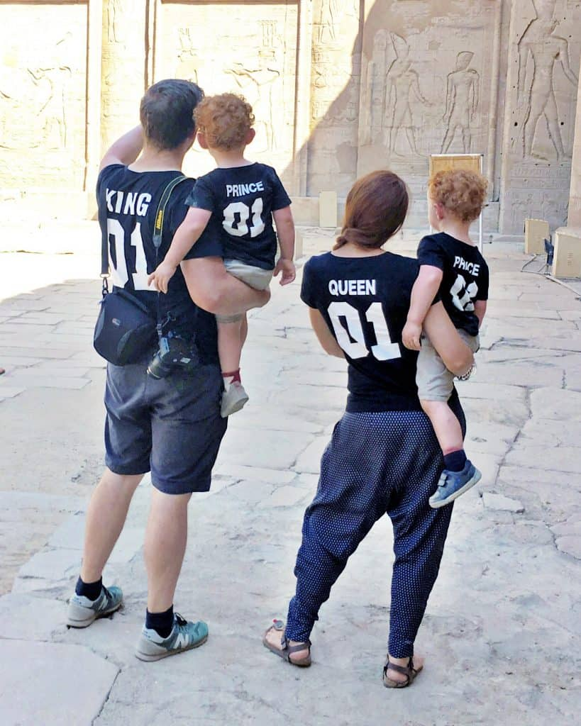 All matching at the Edfu temple forth stop on the dahabiya trip.