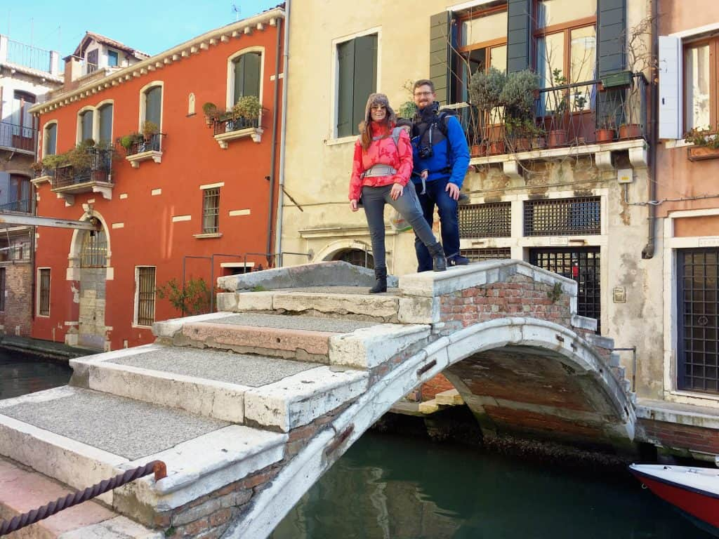 Best 24 hours in Venice. Chiodo bridge, one of the two last bridges in Venice without parapet
